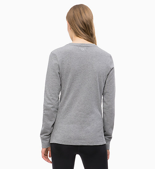 CALVINKLEIN Logo-Sweatshirt - MEDIUM GREY HEATHER - CALVIN KLEIN SPORT - main image 1