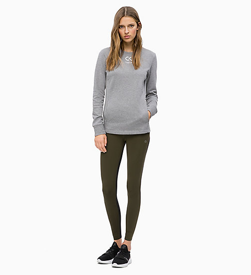 CALVIN KLEIN Sweat-shirt avec logo - MEDIUM GREY HEATHER - CALVIN KLEIN SPORT - image détaillée 1