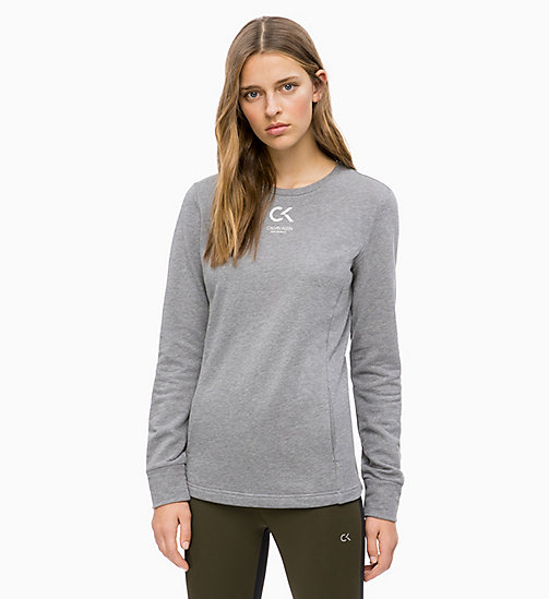 CALVINKLEIN Logo Sweatshirt - MEDIUM GREY HEATHER - CALVIN KLEIN SPORT - main image