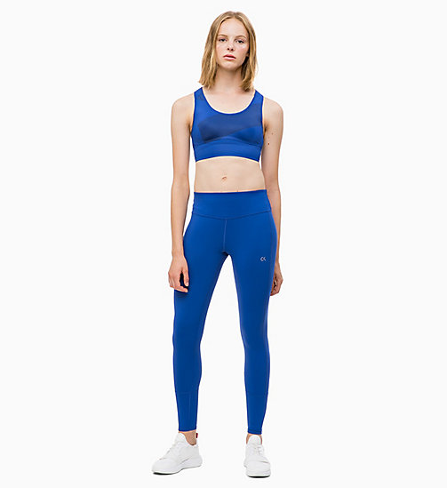 CALVIN KLEIN High Impact Racerback Sports Bra - MAZARINE BLUE - CALVIN KLEIN NEW FOR WOMEN - detail image 1