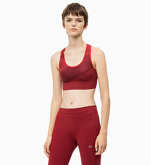 CALVIN KLEIN High Impact Racerback Sports Bra - MERLOT - CALVIN KLEIN NEW FOR WOMEN - main image