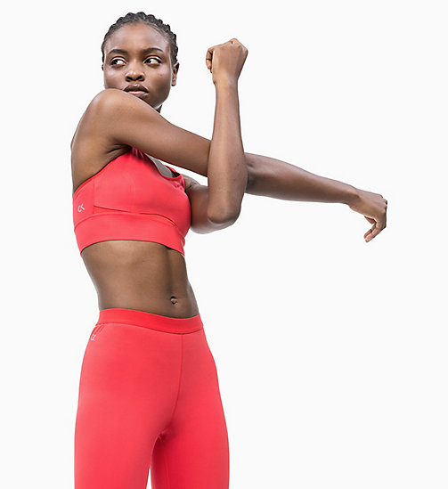 CALVIN KLEIN High Impact Racerback Sports Bra - HIGH RISK RED - CALVIN KLEIN NEW INS - main image