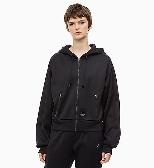 CALVIN KLEIN Zip Through Logo Hoodie - CK BLACK - CALVIN KLEIN NEW FOR WOMEN - main image
