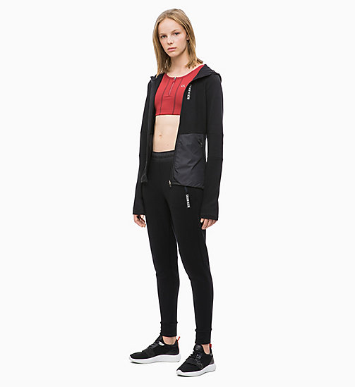 CALVIN KLEIN Zip Through Hoodie - CK BLACK - CALVIN KLEIN NEW FOR WOMEN - detail image 1