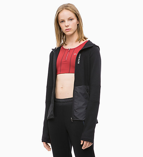 CALVIN KLEIN Zip Through Hoodie - CK BLACK - CALVIN KLEIN NEW FOR WOMEN - main image