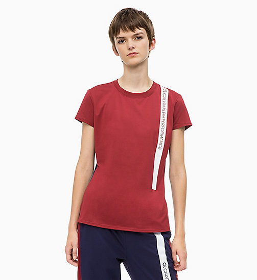 CALVIN KLEIN T-shirt - MERLOT - CALVIN KLEIN NEW FOR WOMEN - main image