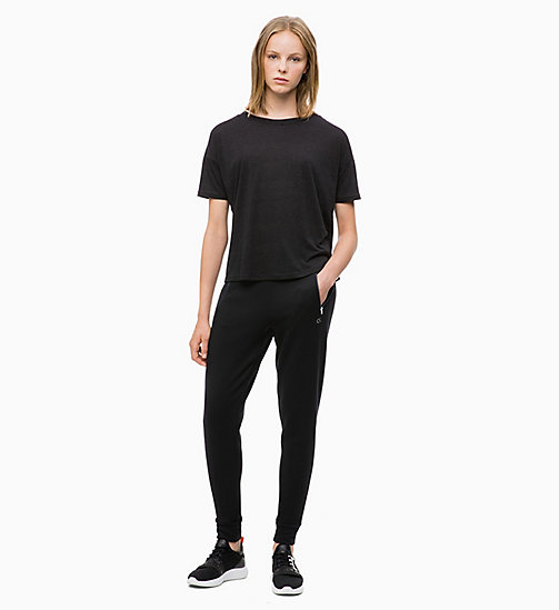 CALVIN KLEIN Cropped Logo T-shirt - CK BLACK - CALVIN KLEIN NEW FOR WOMEN - detail image 1