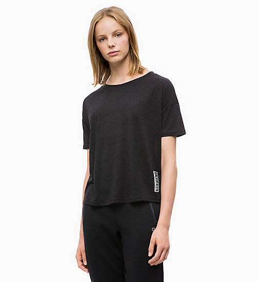CALVIN KLEIN Cropped Logo T-shirt - CK BLACK - CALVIN KLEIN NEW FOR WOMEN - main image