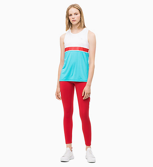 CALVIN KLEIN Colourblocked Tank Top - BRIGHT WHITE - CALVIN KLEIN NEW INS - detail image 1