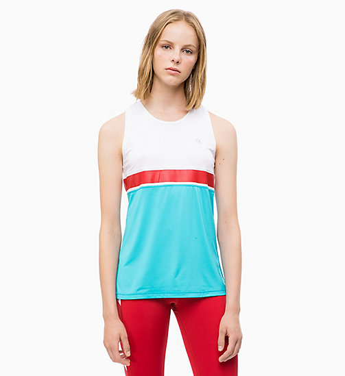 CALVIN KLEIN Colourblocked Tank Top - BRIGHT WHITE - CALVIN KLEIN NEW INS - main image