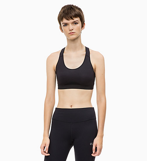 CALVIN KLEIN Medium Impact Racerback Sports Bra - CK BLACK - CALVIN KLEIN SPORTS BRAS - main image