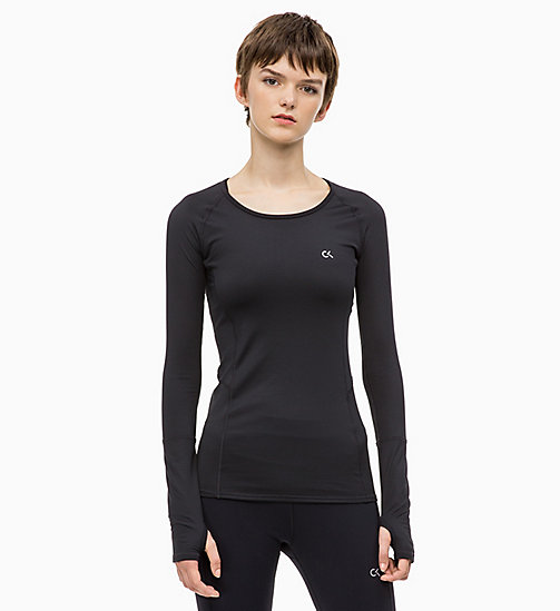 CALVIN KLEIN Long Sleeve Top - CK BLACK - CALVIN KLEIN NEW IN - main image