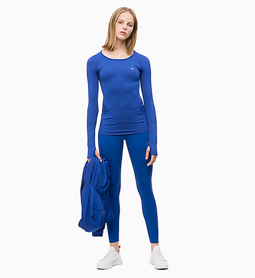 CALVIN KLEIN Long Sleeve Top - MAZARINE BLUE - CALVIN KLEIN NEW IN - detail image 1