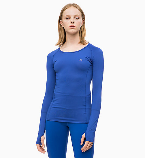 CALVIN KLEIN Long Sleeve Top - MAZARINE BLUE - CALVIN KLEIN NEW FOR WOMEN - main image