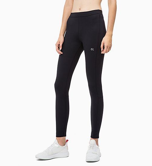 CALVIN KLEIN Reflective Sports Leggings - CK BLACK - CALVIN KLEIN NEW FOR WOMEN - main image