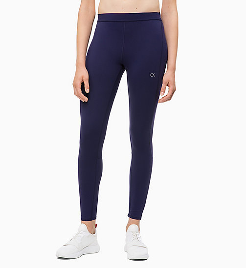 CALVIN KLEIN Reflective Sports Leggings - EVENING BLUE - CALVIN KLEIN NEW FOR WOMEN - main image