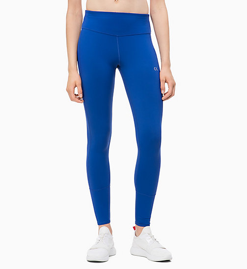 CALVIN KLEIN Sports Leggings - MAZARINE BLUE - CALVIN KLEIN NEW IN - main image