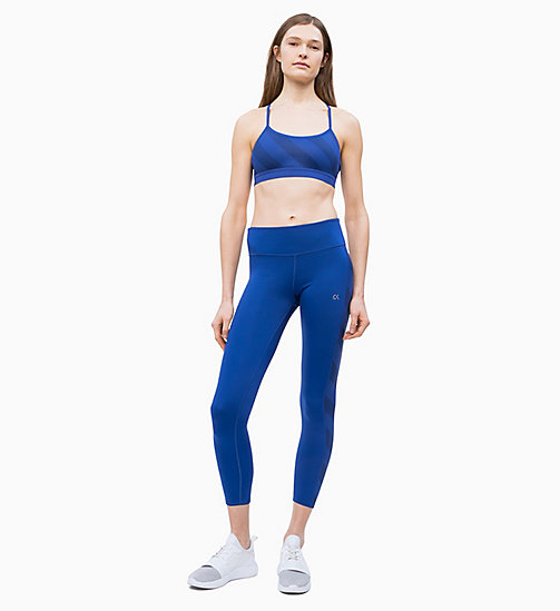 CALVIN KLEIN Cropped Sports Leggings - MAZARINE BLUE - CALVIN KLEIN NEW FOR WOMEN - detail image 1