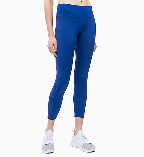 CALVIN KLEIN Cropped Sports Leggings - MAZARINE BLUE - CALVIN KLEIN NEW INS - main image