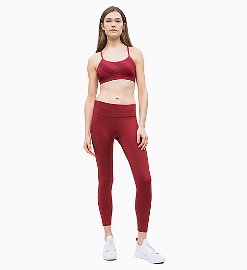 CALVIN KLEIN Cropped Sports Leggings - MERLOT - CALVIN KLEIN NEW FOR WOMEN - detail image 1
