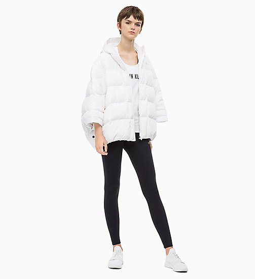 CALVIN KLEIN Down Poncho - BRIGHT WHITE - CALVIN KLEIN SPORTS JACKETS - detail image 1