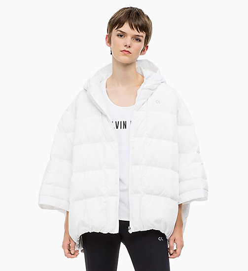 CALVIN KLEIN Down Poncho - BRIGHT WHITE - CALVIN KLEIN SPORTS JACKETS - main image