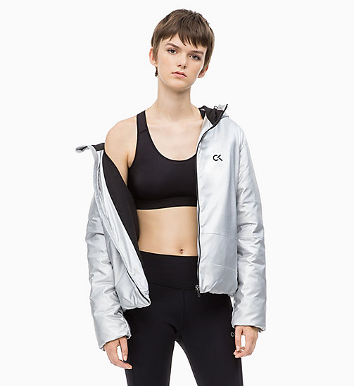 CALVIN KLEIN Reflective Down Jacket - METALLIC SILVER - CALVIN KLEIN NEW IN - main image