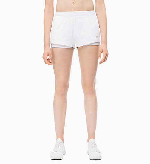 CALVIN KLEIN Sports Shorts - BRIGHT WHITE - CALVIN KLEIN NEW FOR WOMEN - main image