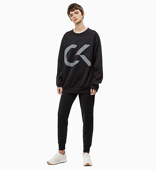 CALVIN KLEIN Logo Sweatshirt - CK BLACK - CALVIN KLEIN NEW FOR WOMEN - detail image 1