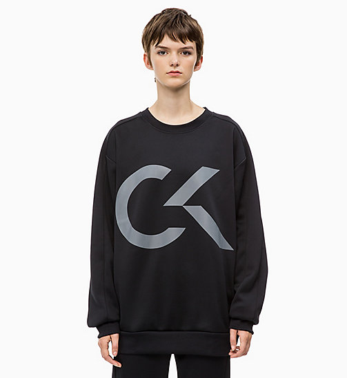 CALVIN KLEIN Logo Sweatshirt - CK BLACK - CALVIN KLEIN NEW FOR WOMEN - main image