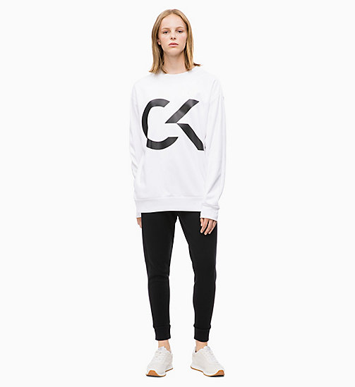 CALVIN KLEIN Logo Sweatshirt - BRIGHT WHITE - CALVIN KLEIN NEW FOR WOMEN - detail image 1