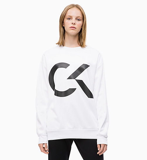CALVIN KLEIN Logo Sweatshirt - BRIGHT WHITE - CALVIN KLEIN NEW FOR WOMEN - main image