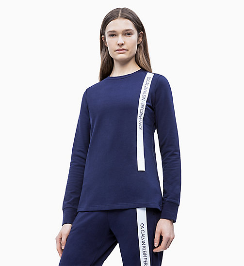 CALVIN KLEIN Logo Sweatshirt - EVENING BLUE - CALVIN KLEIN NEW FOR WOMEN - main image