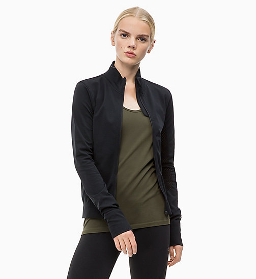CALVINKLEIN Zip Through Jacket - CK BLACK - CALVIN KLEIN SPORT - main image