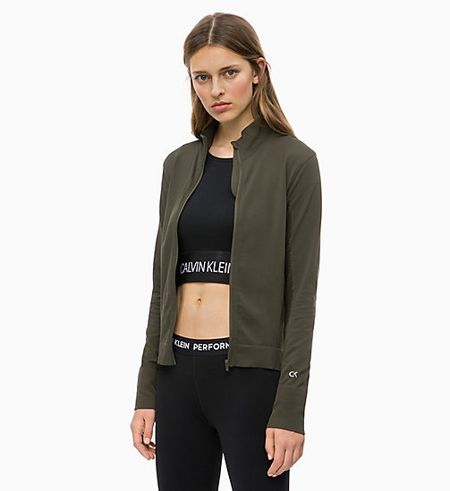 CALVIN KLEIN Zip Through Jacket - FOREST NIGHT - CALVIN KLEIN SPORT - main image
