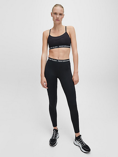 CALVINKLEIN Low Impact Strappy Sports Bra - CK BLACK/CK BLACK BLOCK - CALVIN KLEIN SPORTS BRAS - detail image 1