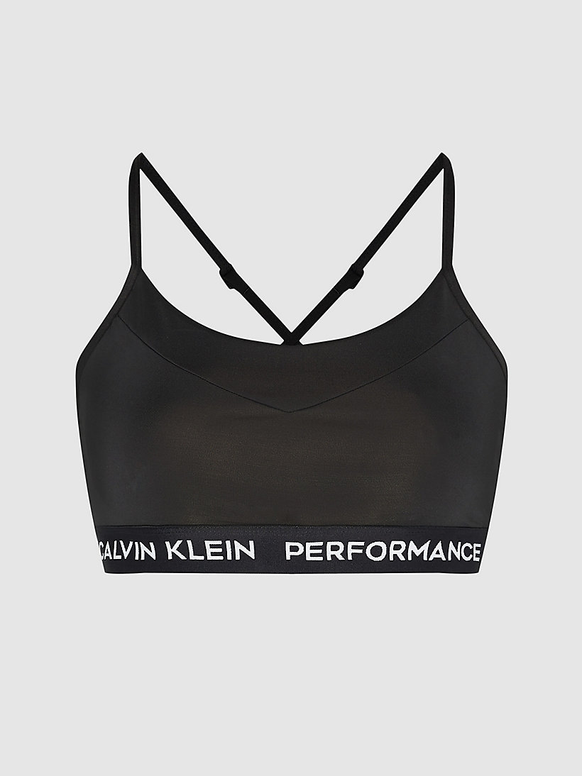 CALVIN KLEIN Low Impact Strappy Sports Bra - BRIGHT WHITE - CALVIN KLEIN PERFORMANCE - main image