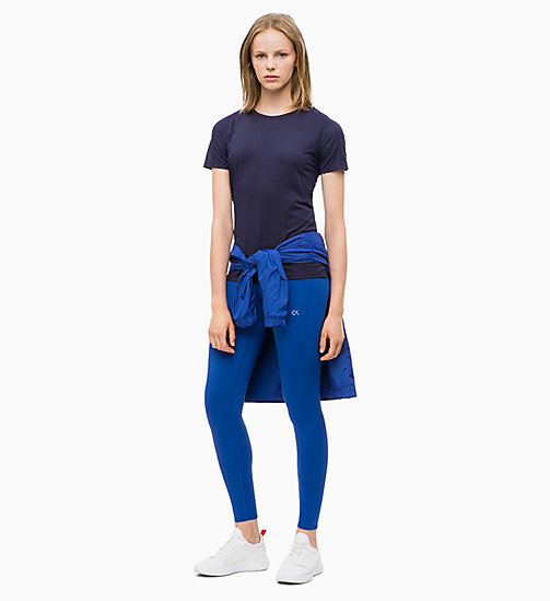 CALVIN KLEIN Mesh Panel T-shirt - EVENING BLUE - CALVIN KLEIN NEW FOR WOMEN - detail image 1