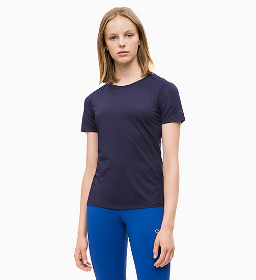 CALVIN KLEIN Mesh Panel T-shirt - EVENING BLUE - CALVIN KLEIN NEW IN - main image