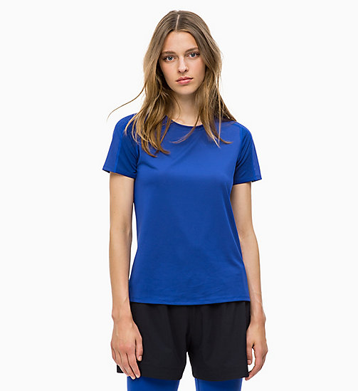 CALVINKLEIN Mesh Panel T-shirt - SURF THE WEB - CALVIN KLEIN SPORT - main image