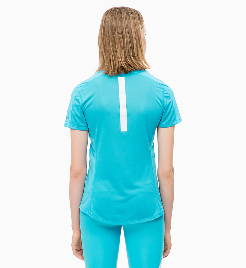CALVIN KLEIN T-Shirt mit Mesh-Einsatz - EVENING BLUE - CALVIN KLEIN PERFORMANCE - main image 1
