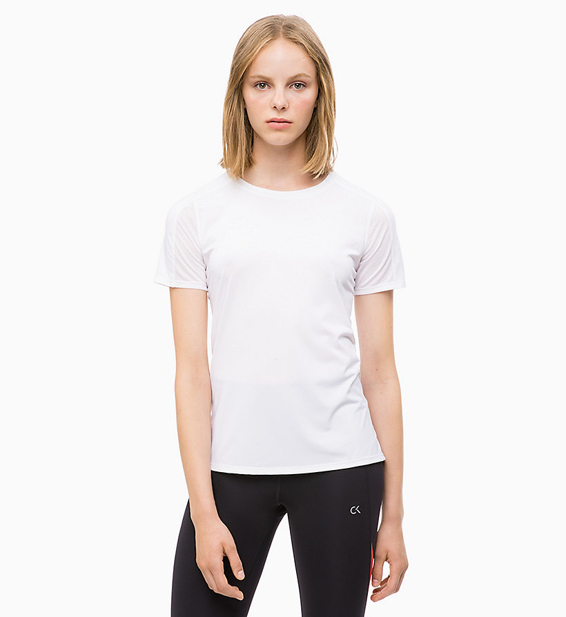 CALVIN KLEIN Mesh Panel T-shirt - SURF THE WEB - CALVIN KLEIN PERFORMANCE - main image