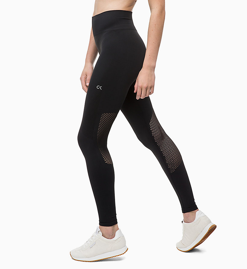 CALVIN KLEIN Mesh Panel Sports Leggings - FOREST NIGHT? - CALVIN KLEIN PERFORMANCE - detail image 1