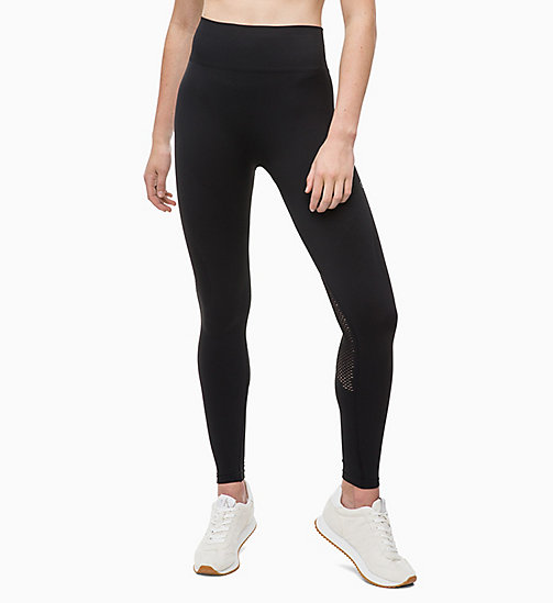 CALVINKLEIN Mesh Panel Sports Leggings - CK BLACK - CALVIN KLEIN SPORT - main image