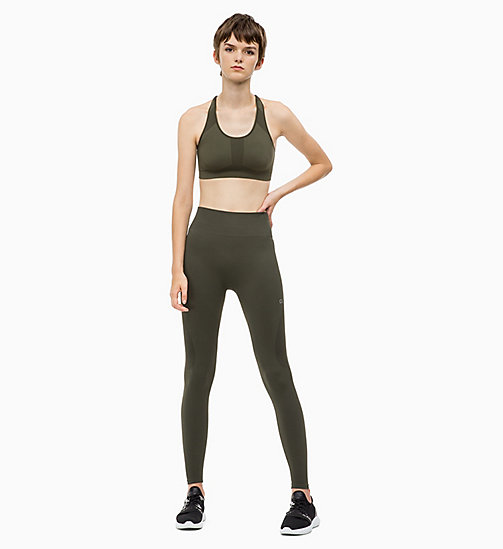 CALVIN KLEIN Mesh Panel Sports Leggings - FOREST NIGHT - CALVIN KLEIN SPORT - detail image 1