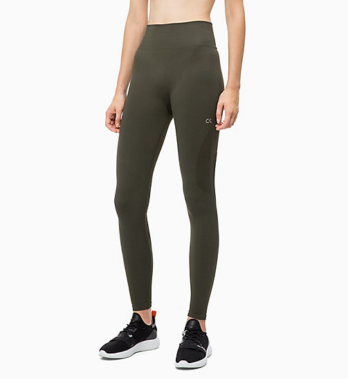 CALVIN KLEIN Mesh Panel Sports Leggings - FOREST NIGHT - CALVIN KLEIN SPORT - main image