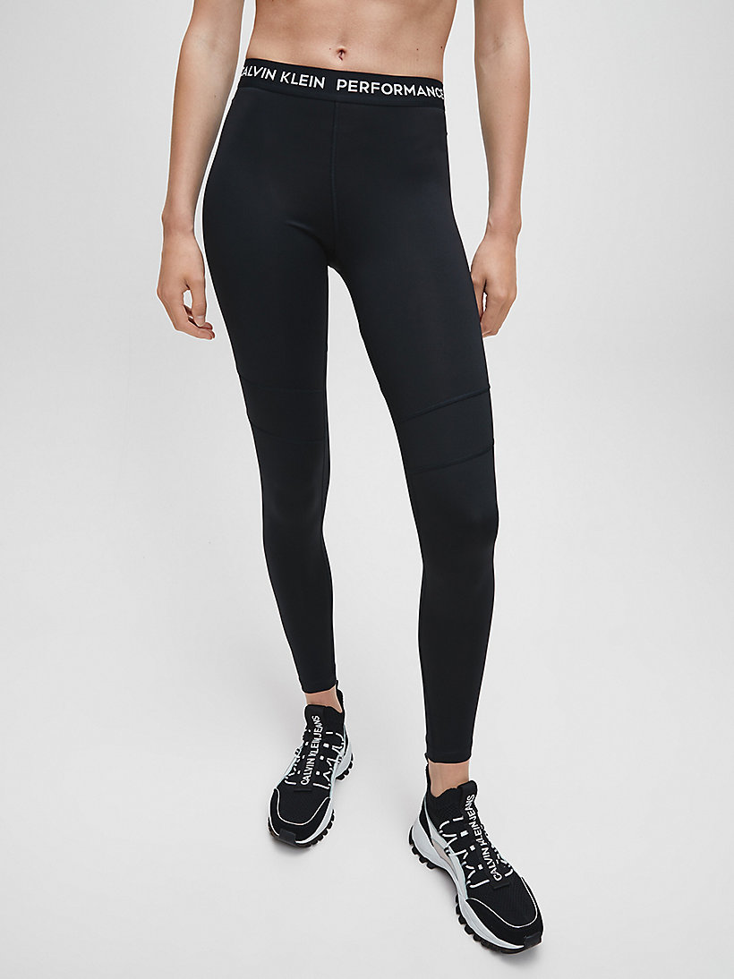 CALVIN KLEIN Colourblocked Sports Leggings - MERLOT - CALVIN KLEIN PERFORMANCE - main image
