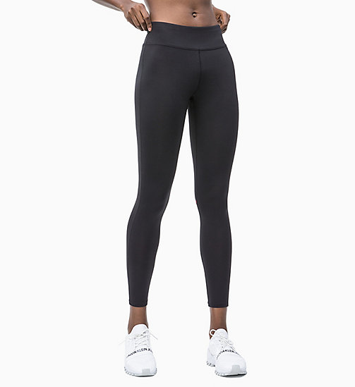 CALVIN KLEIN Sports Leggings - CK BLACK/HIGH RISK RED - CALVIN KLEIN NEW INS - main image