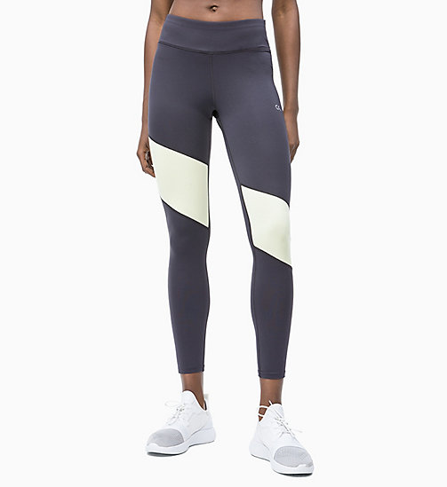 CALVIN KLEIN Sport-Leggings - GUNMETAL/WAX YELLOW - CALVIN KLEIN NEW IN - main image