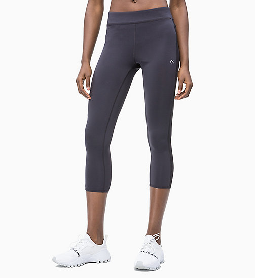 CALVIN KLEIN Cropped Sports Leggings - GUNMETAL - CALVIN KLEIN NEW INS - main image